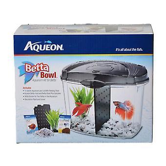 Aqueon Betta Bowl Starter Kit - Black - .5 Gallon