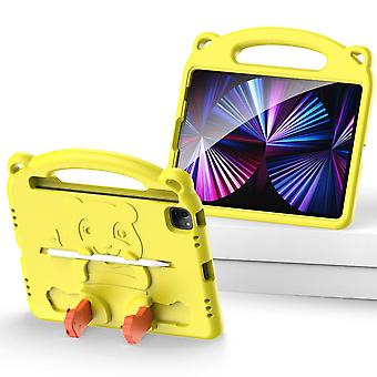 Case For Ipad Pro 11 2020,shockproof Lightweight Convertible Handle Stand Protective Kids Child Cover - Yellow Panda