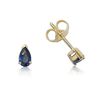 HS Johnson HSJ-SE0232 Women's Teardrop Sapphire Stud Earrings