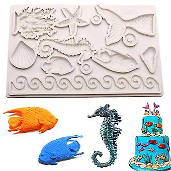 Cake pans molds mermaid theme fondant mold soap molds