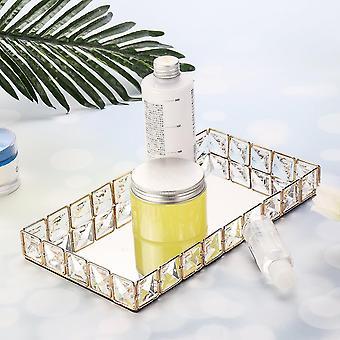 Plateau de rangement décoratif contemporain minimaliste (Argent)