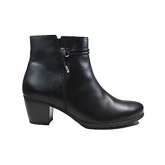 Gabor 522-27 Bottes de cheville intelligentes en cuir noir pour femmes