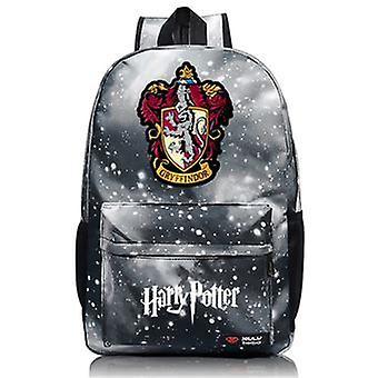 Harry Potter # 3 Hogwarts Badge Zaino per bambini 44cm Grigio