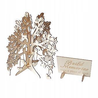 Diy Wood Bruiloft Gastboek Wensen