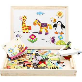 Houten educatief speelgoed magnetische kunst schildersezel dieren puzzels spelletjes