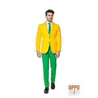 Opposuit verde e ouro de Austrália slimline terno 3 peças premium UE tamanhos masculino