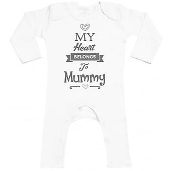 Spoilt Rotten Heart Belongs To Mummy Baby Footless Romper