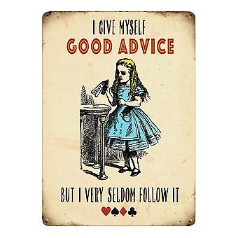 Original Metal Sign Co Large Good Advice 30 x 40cm