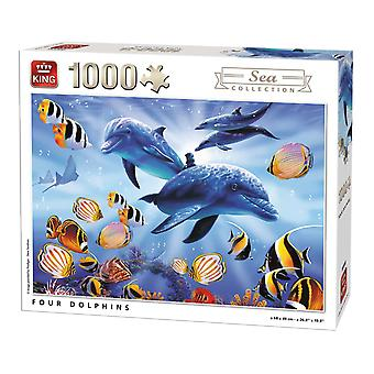 King Four Dolphins Jigsaw Puzzle (1000 Pieces)