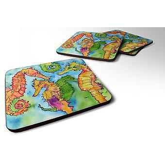 Carolines Treasures  8546-FC Set of 4 Seahorse  Foam Coasters