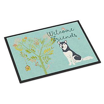 Welcome Friends Siberian Husky Indoor or Outdoor Mat 18x27