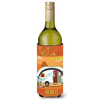 Be in the Woods New Camper Wine Bottle Beverge Insulator Hugger