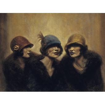Girl Talk Poster Print by Hamish Blakely (32 x 24)