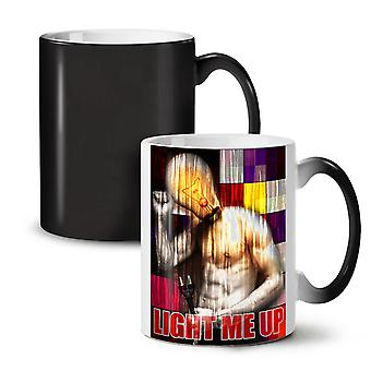 Light Up Stylish Fashion NEW Black Colour Changing Tea Coffee Ceramic Mug 11 oz | Wellcoda