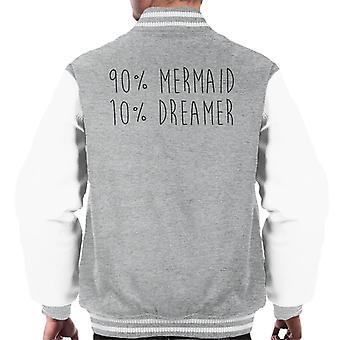 Varsity Jacket quatre-vingt-dix pour Cent sirène dix pour Cent rêveur masculine