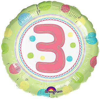 Anagram 18 Inch SpotOn Birthday Age Circle Foil Balloon