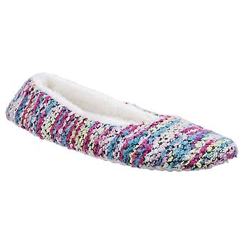 Divaz Womens/Ladies Morzine Knitted Slippers