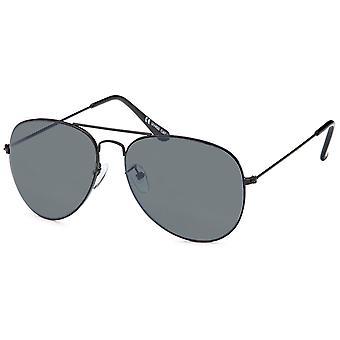 Bling Metal Sonnenbrille - PILOTEN schwarz / grau