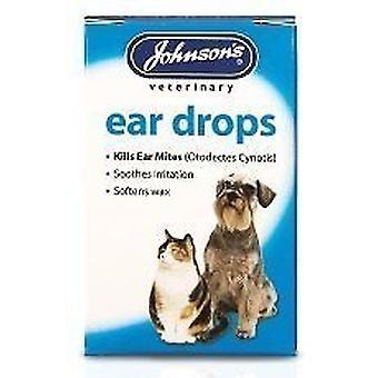 Johnsons hund & kat øre dråber - dræbe øre mider 15ml