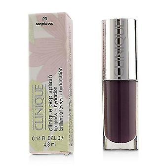 Clinique Pop Splash Lip Gloss + hydrering - # 20 Sangria Pop - 4.3ml/0.14oz