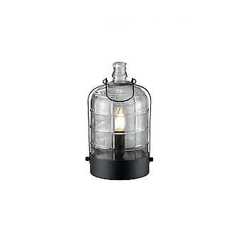 Trio d'éclairage lampe de Table en métal noir Vintage Astrid
