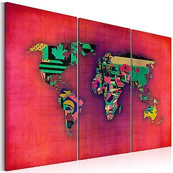 Vászon Print-a világ az enyém-Triptichon