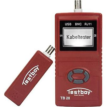 Cable meter Testboy 28 Networks Suitable for USB, RJ11, RJ45 and BNC cables