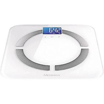Inteligentné kúpeľňové váhy Medisana BS430 pripojenie hmotnostného rozsahu = 180 kg biela