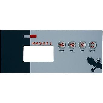 Gecko 9916-100219 4 Keys Overlay for TSC-19