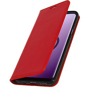 Etui Samsung Galaxy S9 Plus Housse Cuir Portefeuille Fonction Support - Rouge