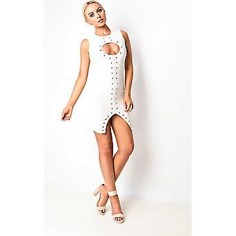 IKRUSH Womens Athena Lace Up Bodycon jurk