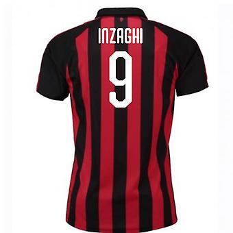 2018-2019 AC ミラン プーマのホーム サッカー シャツ (インザーギ 9)