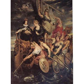 The Majority of Louis XIII, Peter Paul Rubens, 50x40cm