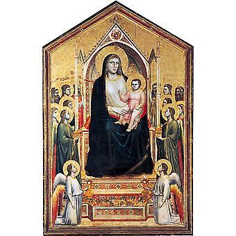 Madonna i Majestæt, GIOTTO di Bondone, 60x40cm