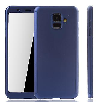 Samsung Galaxy A6 2018 mobilnych case-futerał pełne pokrycie zbiornik ochrony szkła blue