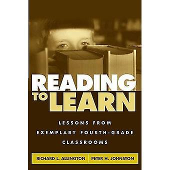 Läsa för att lära sig - lärdomar från exemplariskt fjärde klass klassrum av R