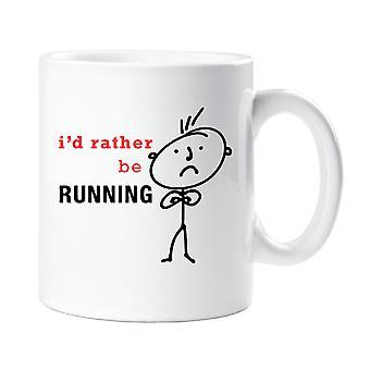 Mens I'd Rather Be Running Mug