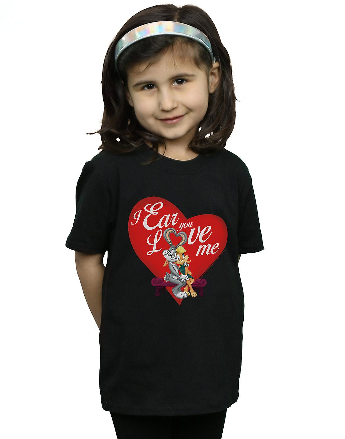 Looney Tunes Girls Bugs Bunny And Lola Valentine's Day Love Me T-Shirt