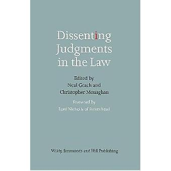 Dissenting Judgments in the Law by Neal Geach - 9780854902545 Book