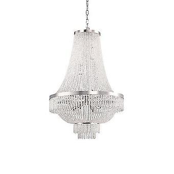 Ideel Lux - Augustus guld Finish tolv lys lysekrone med krystal perler IDL113197
