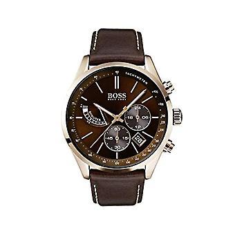 Hugo Boss Chronograph Quarz Herrenuhr mit Lederband 1513605