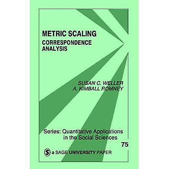 Metrici scalatura analisi delle corrispondenze di Weller & Susan C.