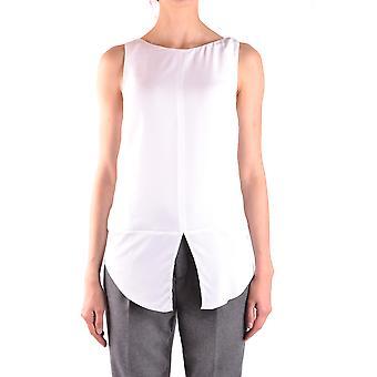 Dondup Ezbc051084 Women's White Viscose Top