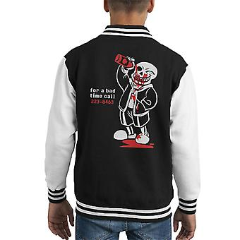 Undertale For A Bad Time Sans Kid's Varsity Jacket