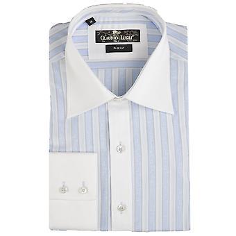 Клаудио Lugli смелые полосатой Мужская рубашка