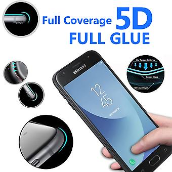For Samsung Galaxy J4 - 5D Curve Edge Full Coverage 9H Hardness Tempered Glass (3 Pack) by i-Tronixs