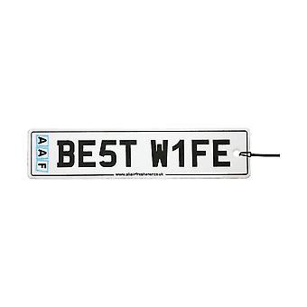 AAF - Best Wife Number Plate Car Air Freshener