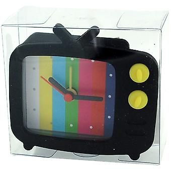 Die Olivia Collection Black Novelty Silicone Alarm Clock TV Style & Test Picture