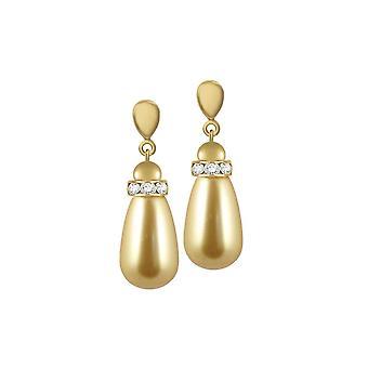 Evig samling Beaumont gull Glass perle Teardrop gull Tone slipp klipp på øredobber