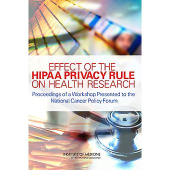 Effect of the HIPAA Privacy Rule on Health Research - Proceedings of a